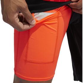 "adidas OWN The Run 2N1 Shorts 7"" Herrer, orange/sort"